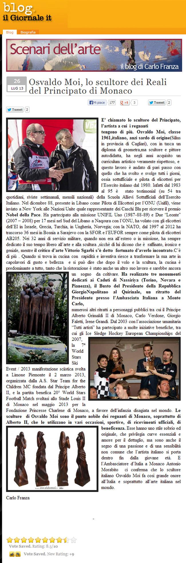 Il-Giornale-26-lug-2013-Carlo-Franza Osvaldo Moi