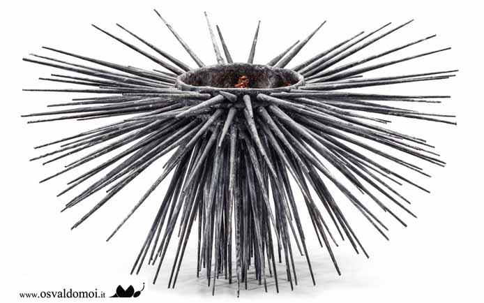 RICCIO - vetro-resona, rete metallica, stoffe, resina, anno 2017